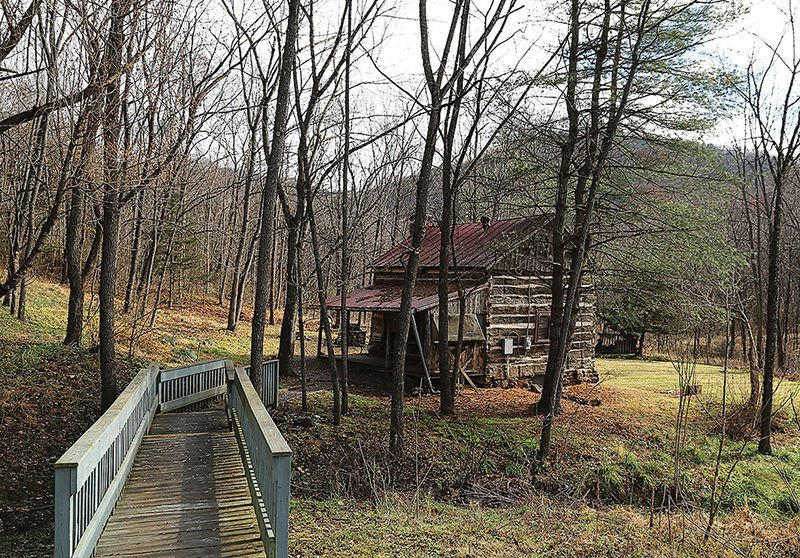 A cabin waits for you along the Appalachian Trail