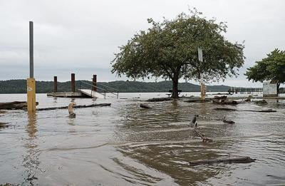 Susquehanna River flooding at Port Deposit, MD