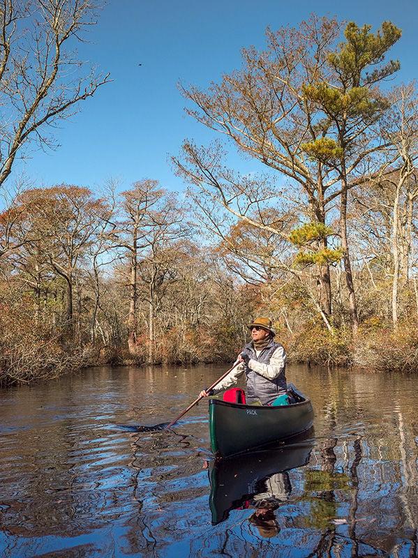 Joseph Fehrer paddles Nassawango Creek