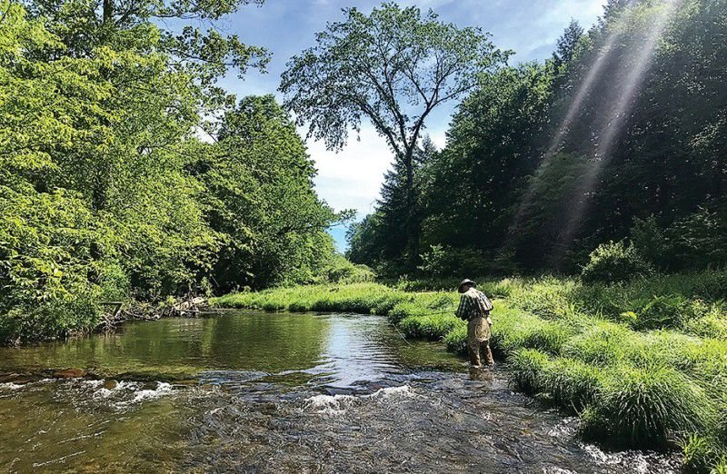 Angler on Pennsylvania stream