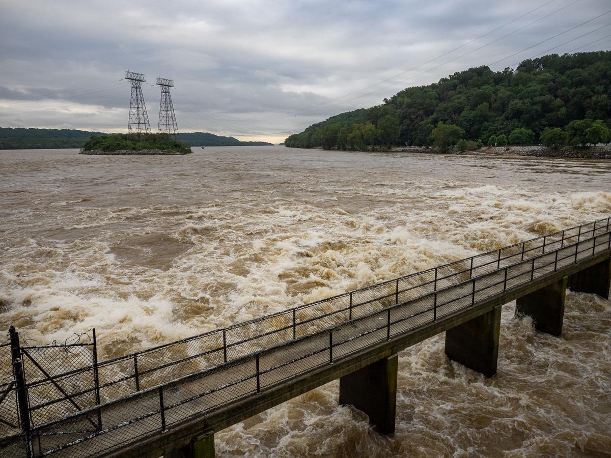 High flow at Conowingo Dam 2018