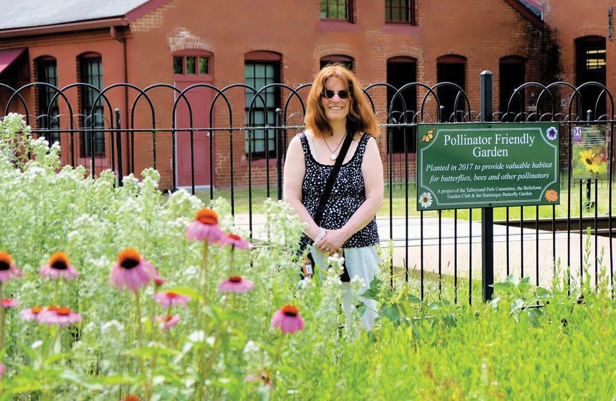 Joanne Tosti-Vasey, pollinator garden in Bellefonte, PA