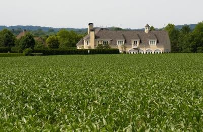New homes next to farmland