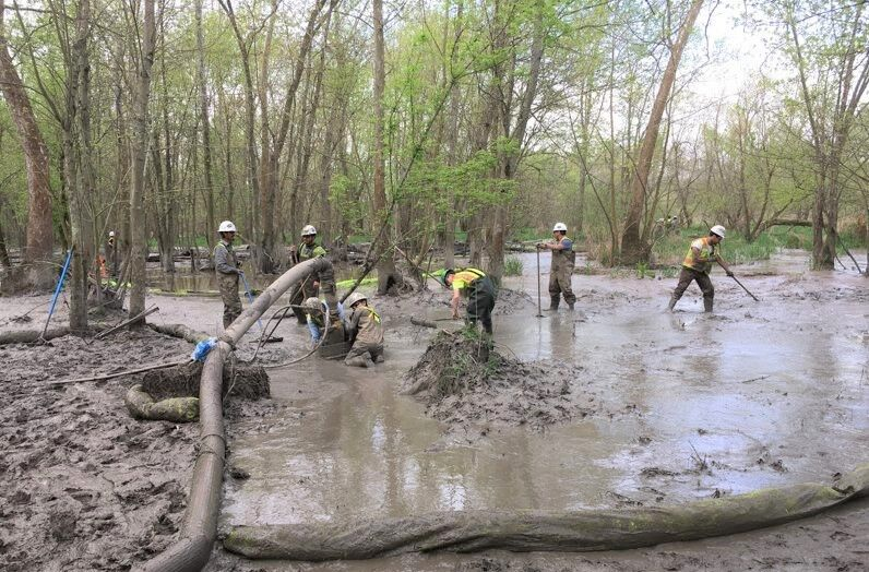 Gas pipeline spill
