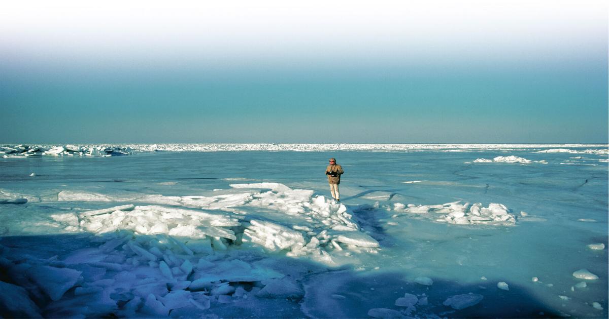 Chesapeake Bay frozen