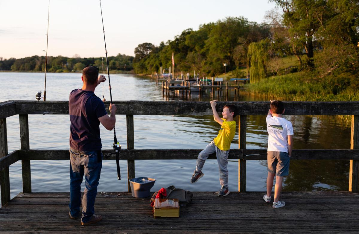 Fishing pier in Calvert County, MD