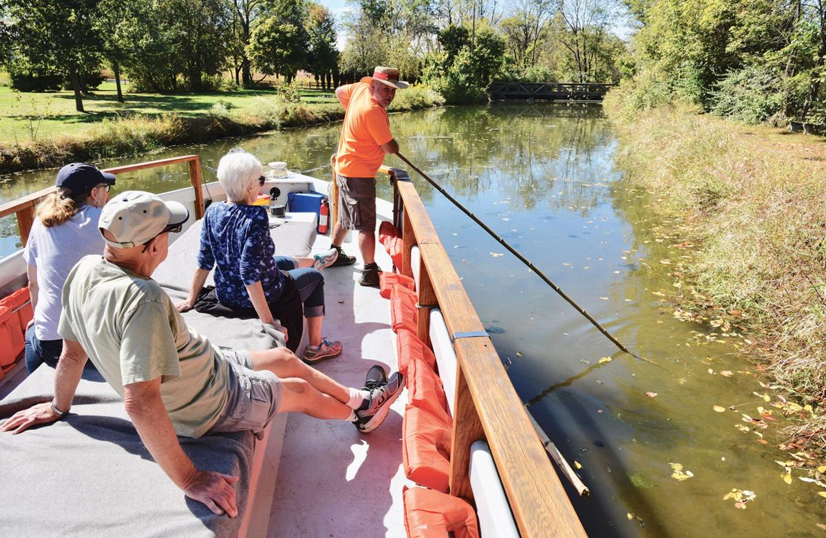 Poling on the Union Canal
