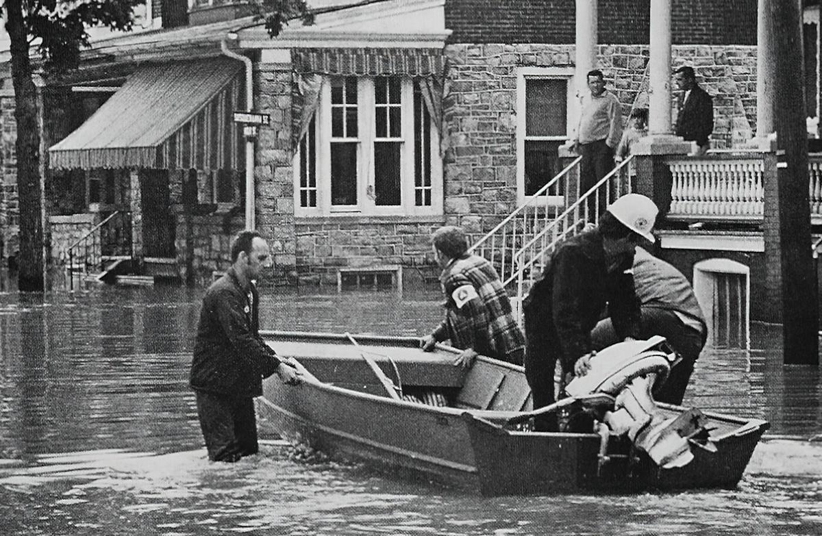 Agnes flooding in Harrisburg