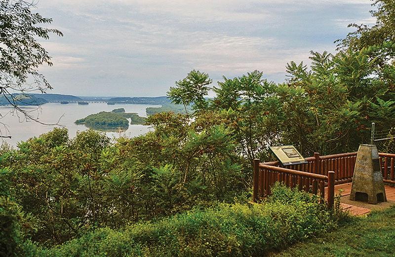 Turkey Hill trail overlook near Susquehanna flats, PA