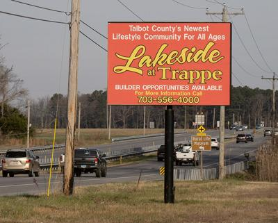 Development sign at Trappe, MD