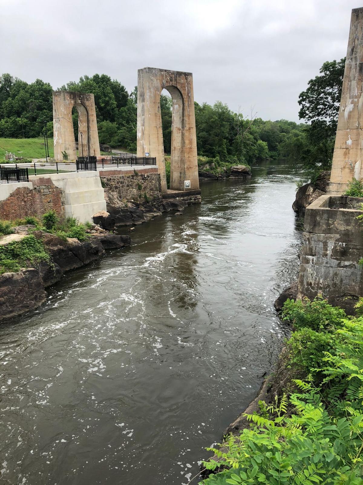 Bridge remains on the Appomattox River
