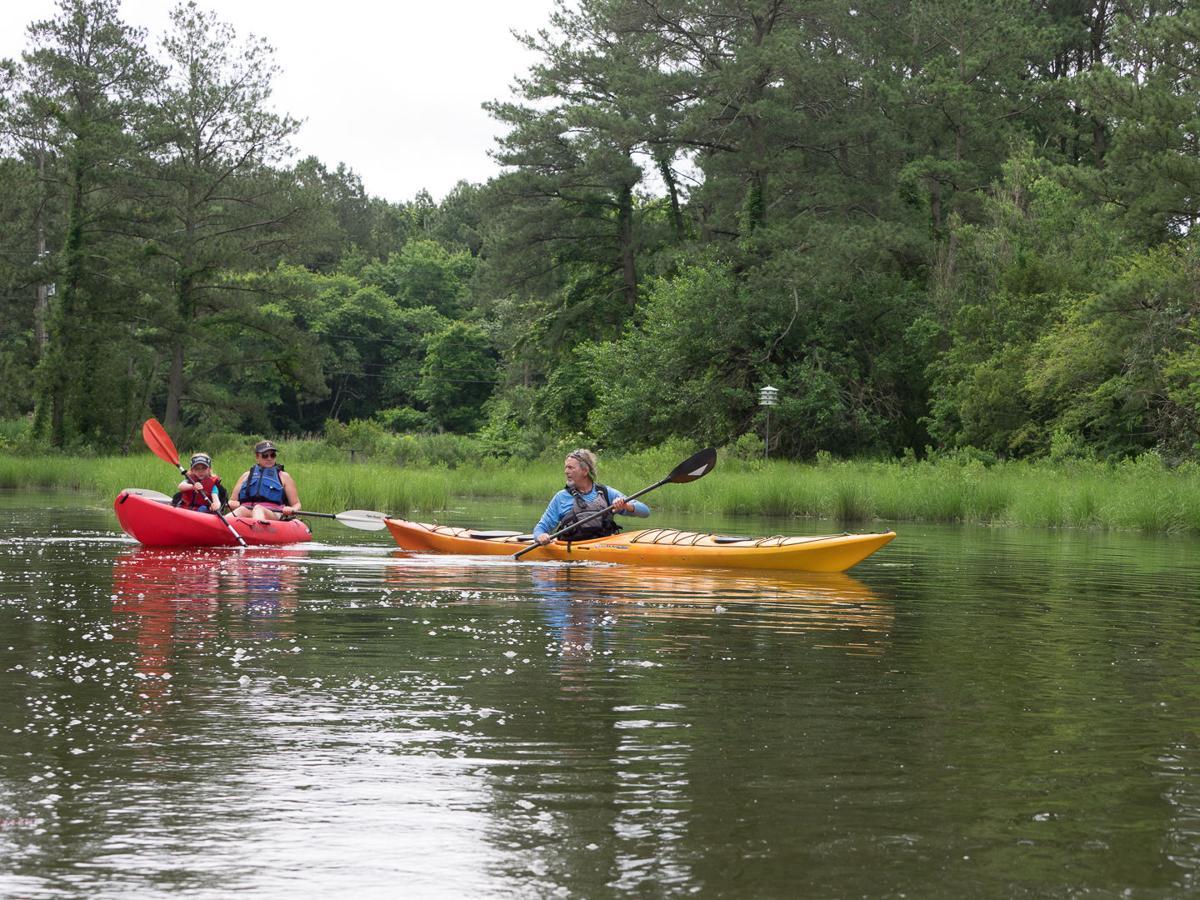 Kayakers on Onancock Creek VA