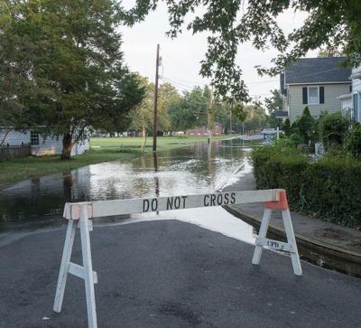 Street flooding, Cambridge, MD