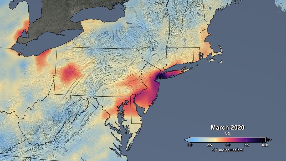 Air pollution March 2020