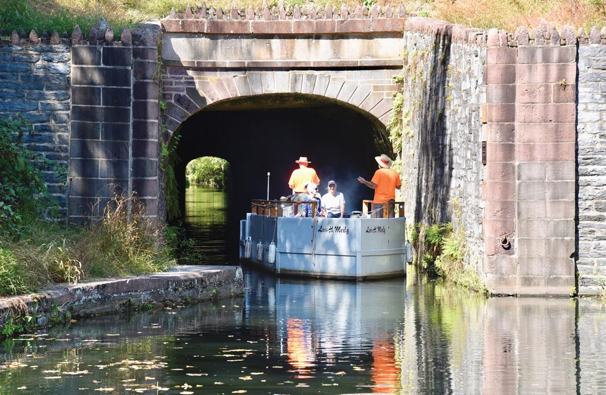 Boat tour into the Union Canal Tunnel, PA