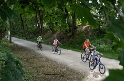 Biking on the Warwick-to-Ephrata Rail-Trail in PA