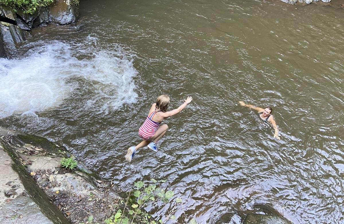 Hopping into the Blue Hole