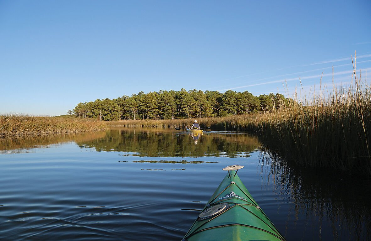 Kayaking at Janes Island State Park, MD