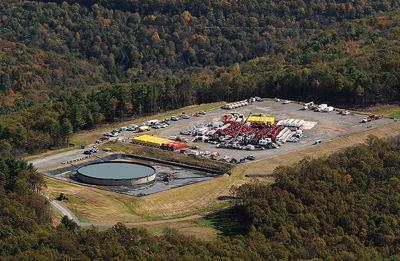 Fracking site, PA