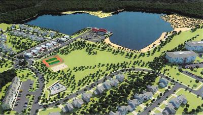 Lakeside development sketch, Trappe MD