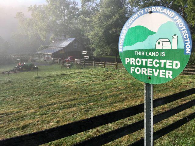 West Virginia farmland conservation sign