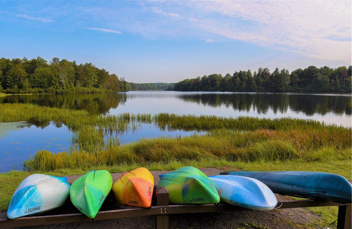 Kayaks at Ricketts Glen State Park, PA