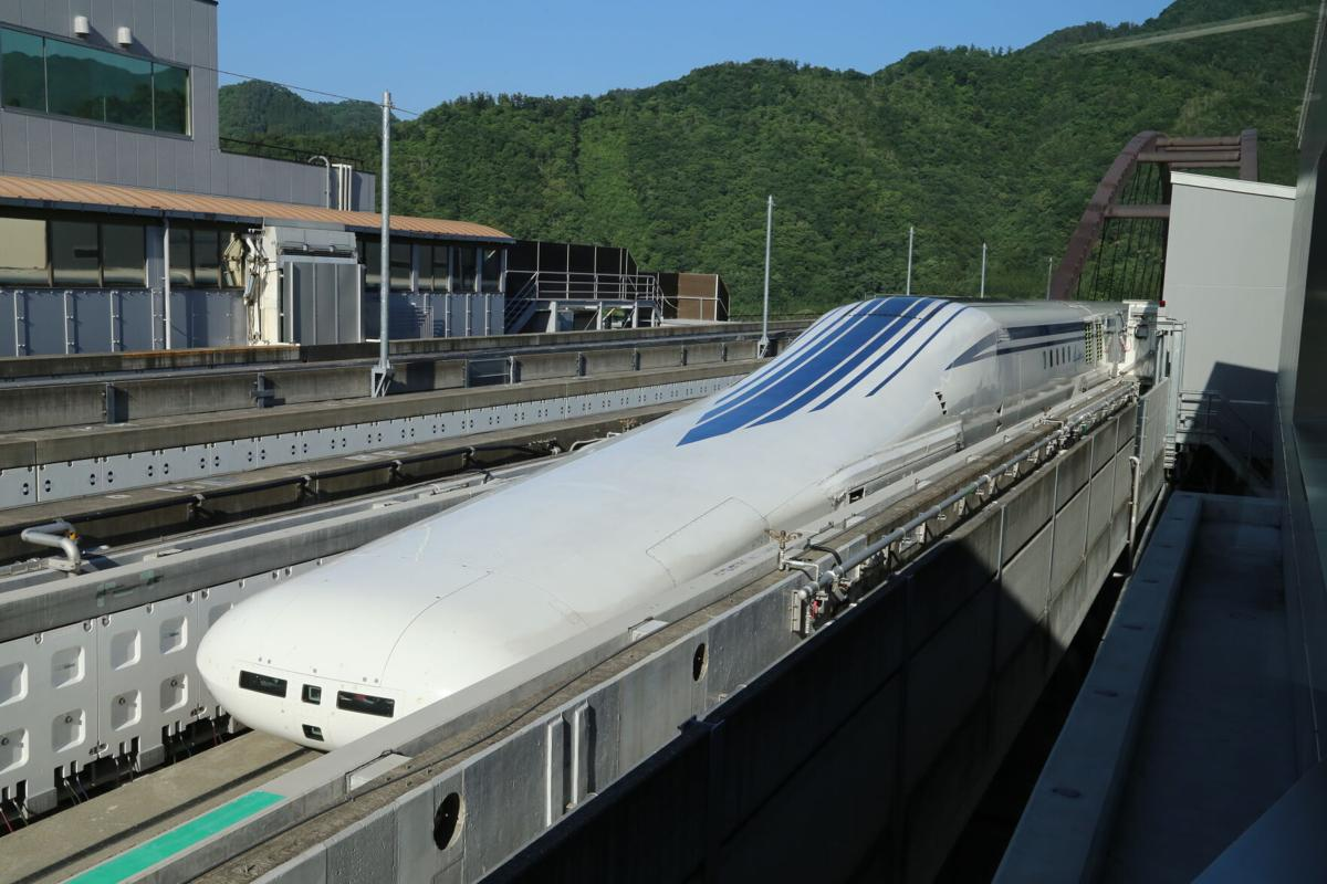 Magnetic-levitation train in Japan