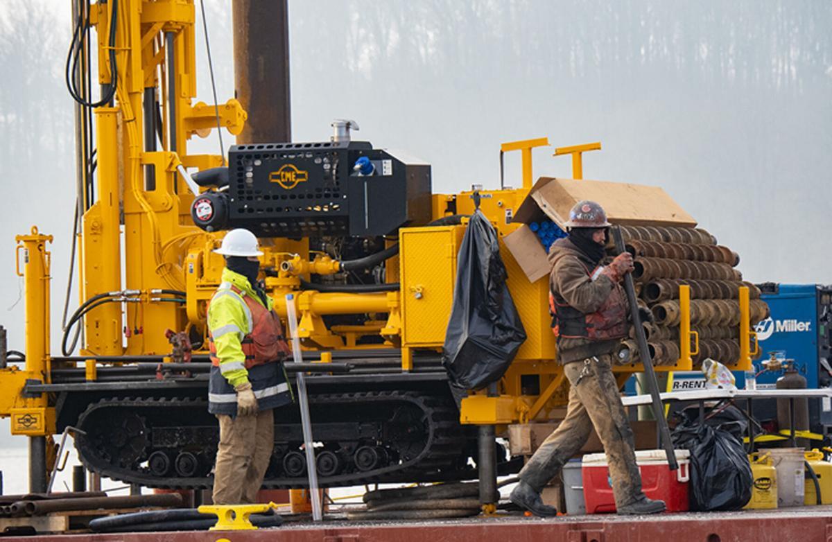 Sediment sampling work crew, Susquehanna River