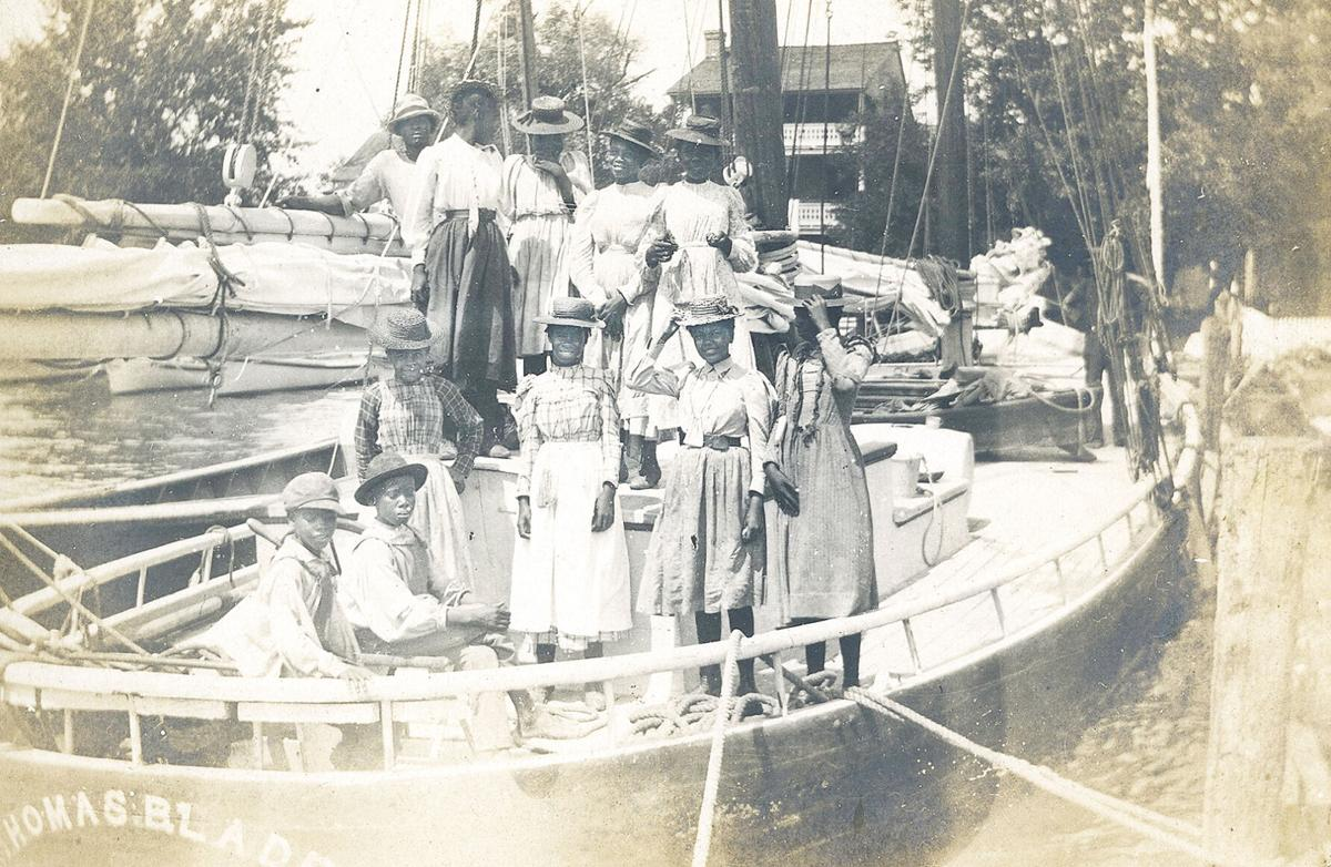 African Americans on recreational boat