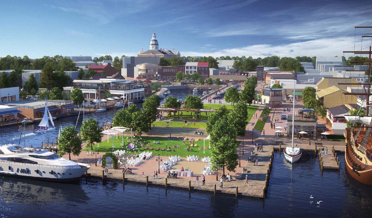 Annapolis City Dock conceptual art