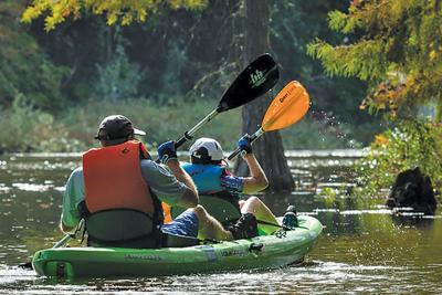 Kayakers at Trap Pond State Park, DE