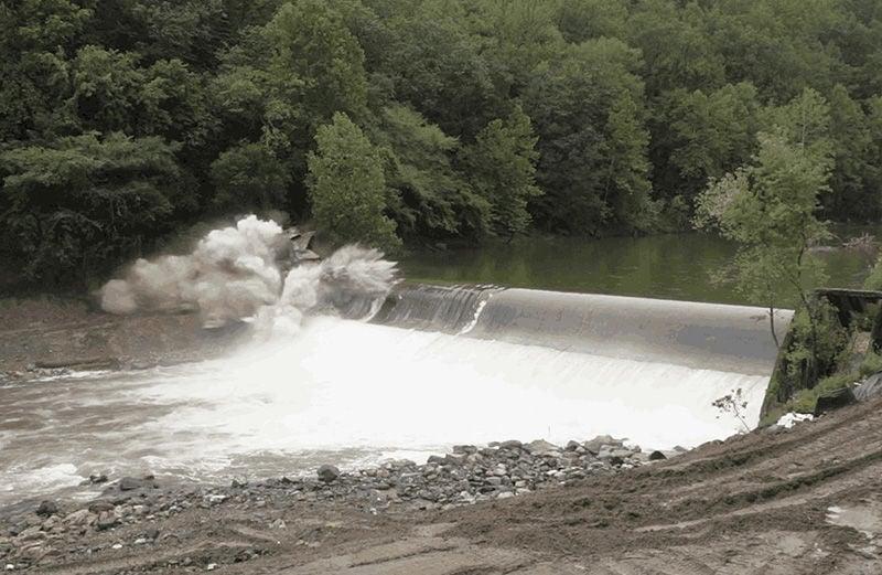 Explosion at Bloede Dam
