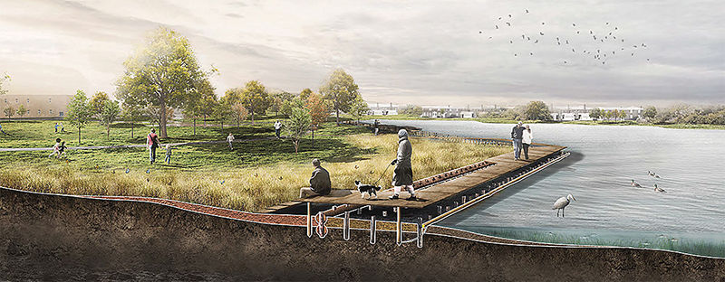 Project to revive shoreline park using dredged material wins support