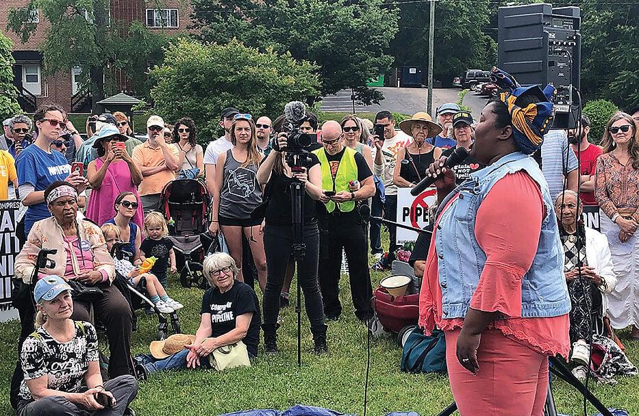 Union Hill, VA, compressor station protest