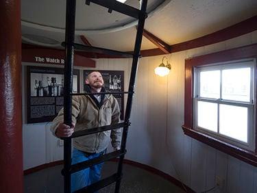 Seven Foot Knoll Lighthouse ladder