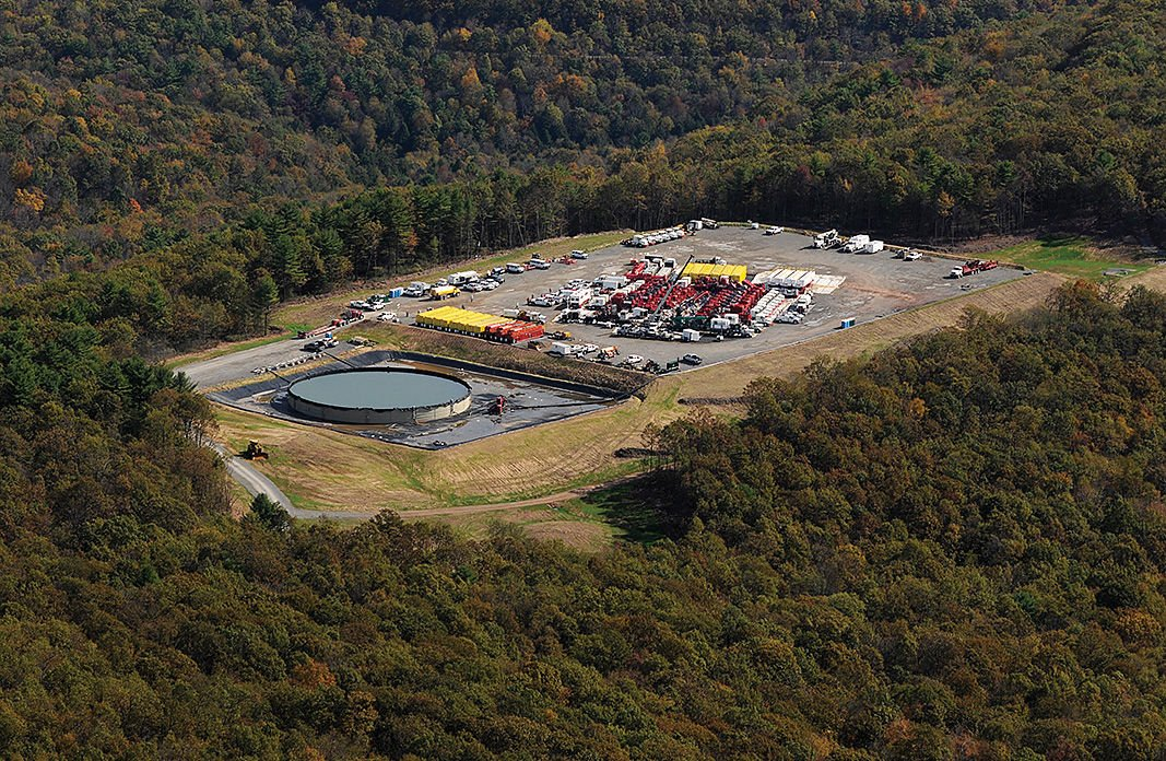 Fracking site aerial PA