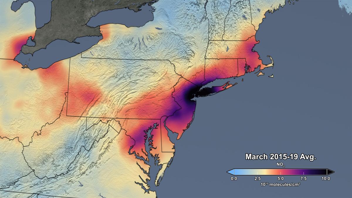 Air pollution March 2015-2019