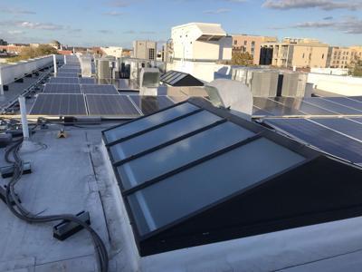 Rooftop solar panels, DC