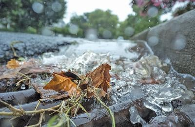 Stormwater drain closeup