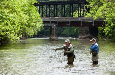 Fishing on the Little Juniata River, PA