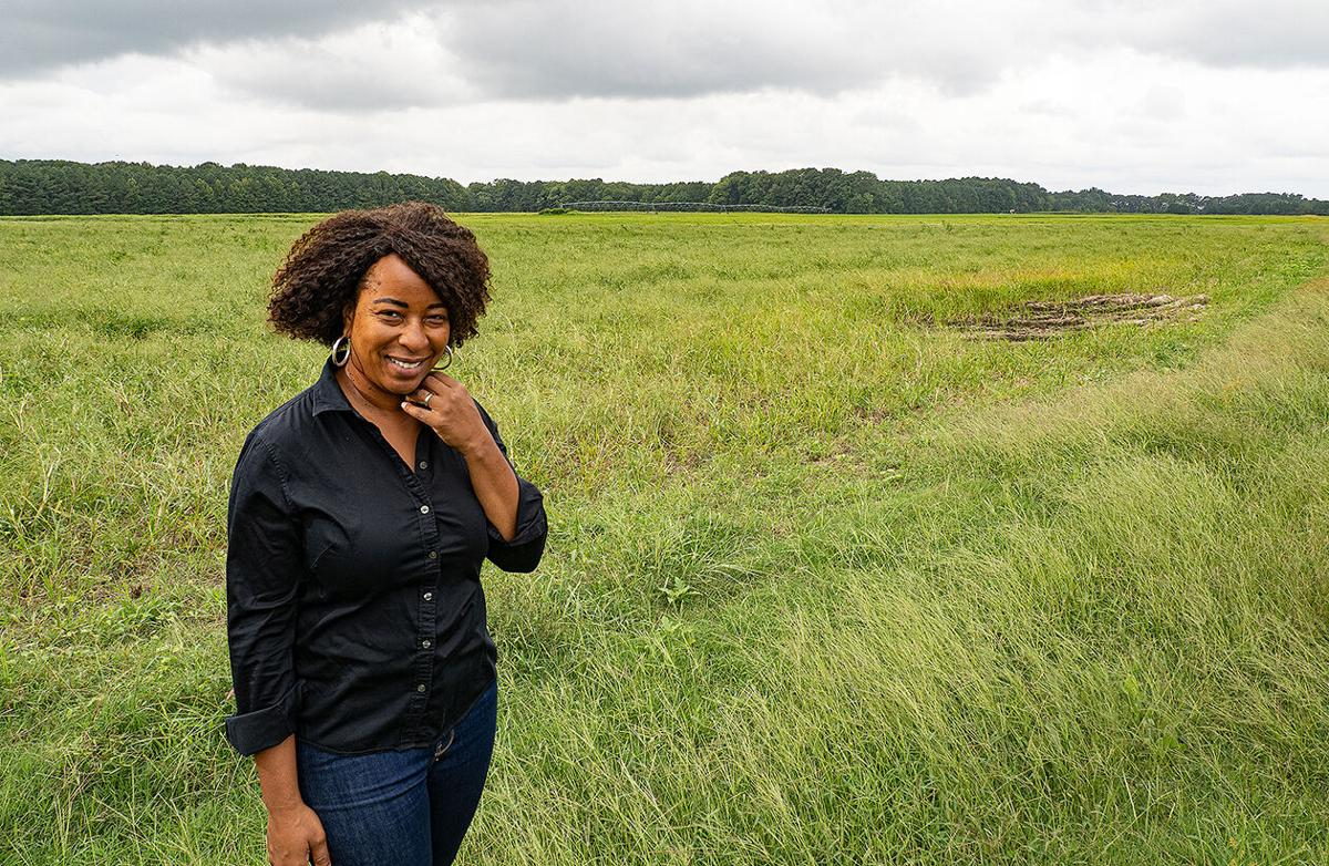 Monica Brooks at CAFO site