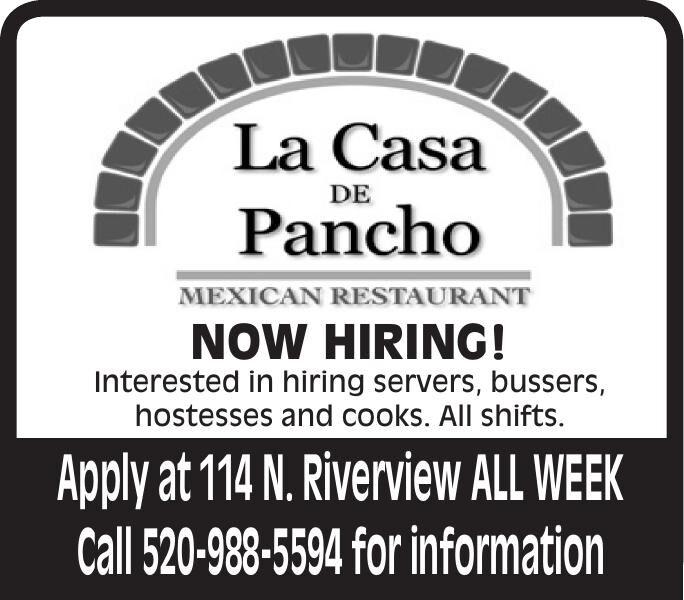La Casa De Pancho NOW HIRING!