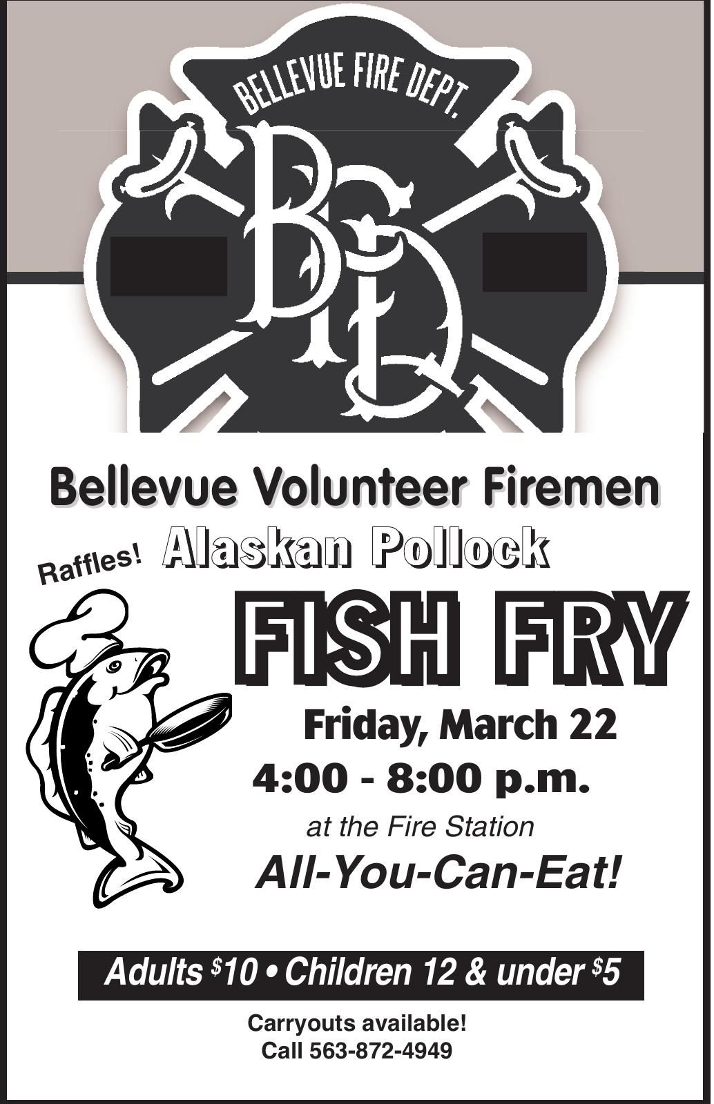 Bellevue Volunteer Firemen Fish Fry