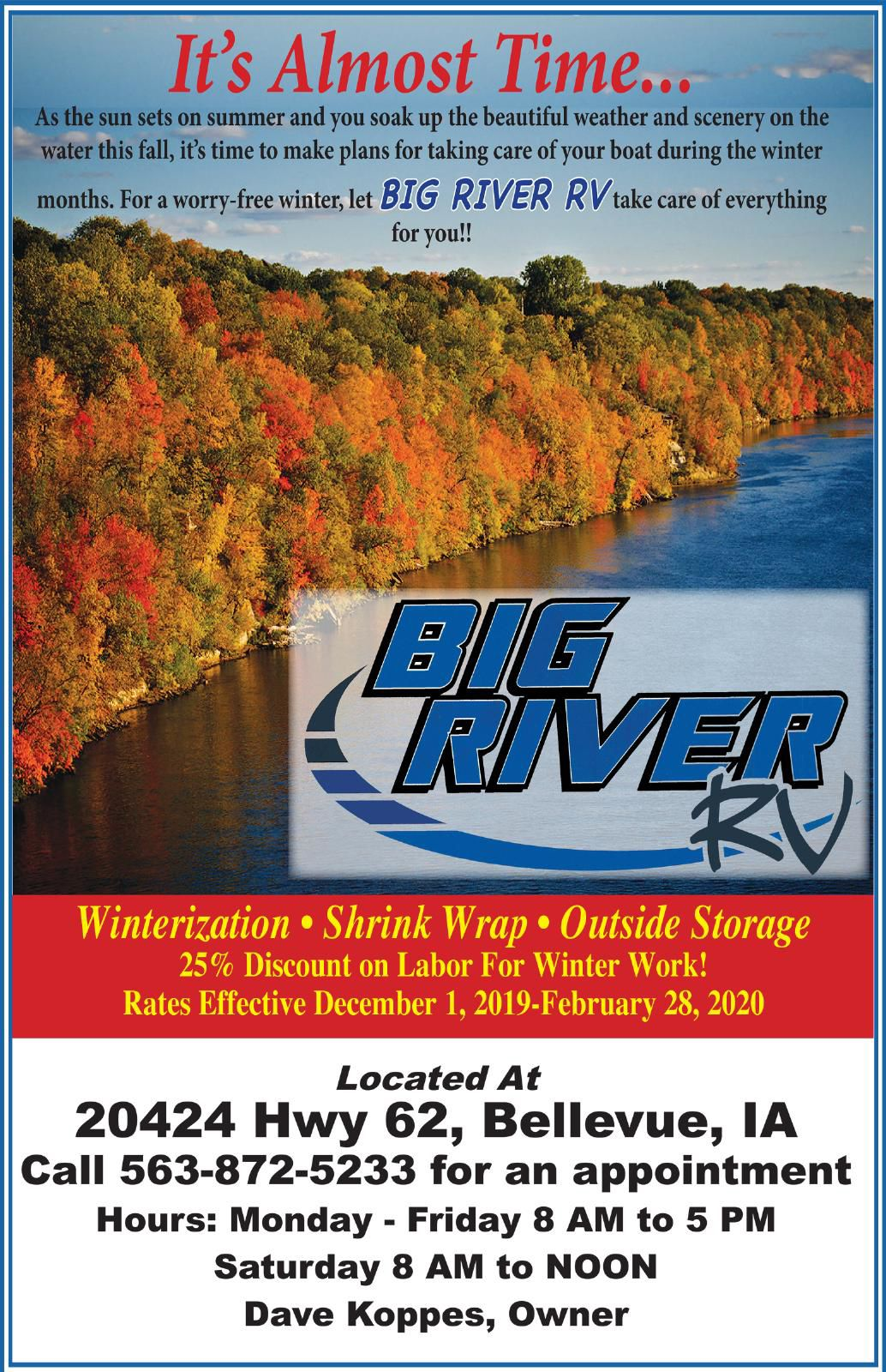 It's Almost Time....Big River RV