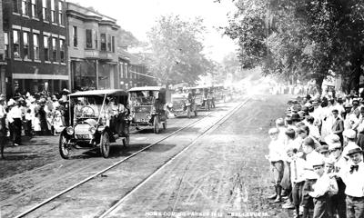 1912 Parade on Second Street in Bellevue