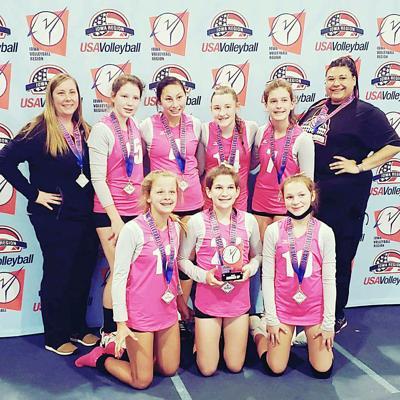 13U volleyball team