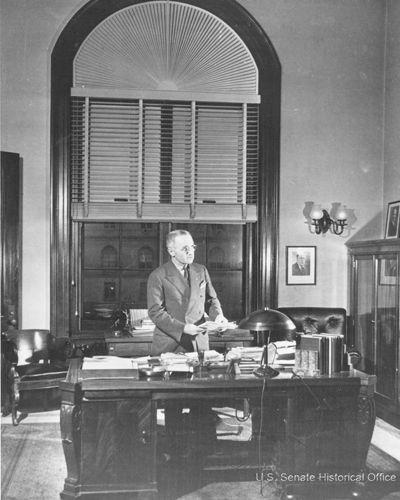 Harry S. Truman at his desk