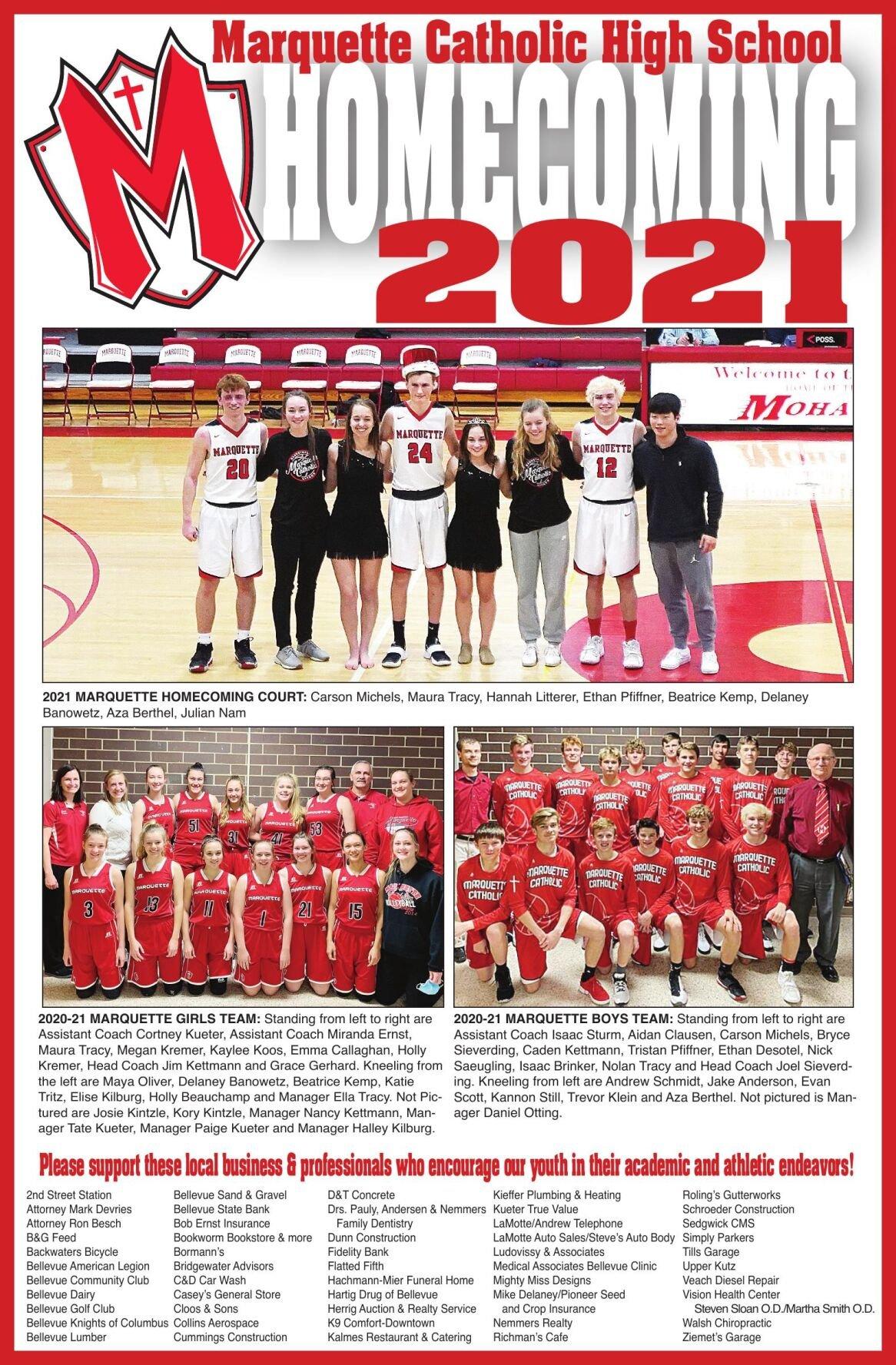 Marquette Catholic High School Homecoming 2021