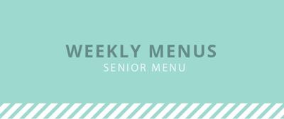 senior center menu