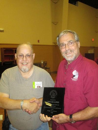 Chordhawks present 'Lifetime Achievement Award' to Chuck Lind